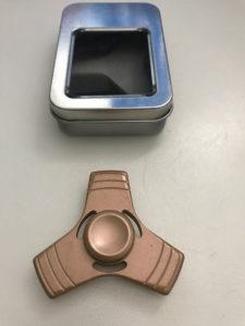 fidget spinner metalic